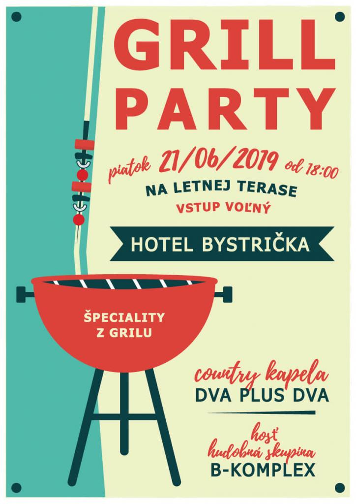Letná grilovačka hotel bystrička grill party