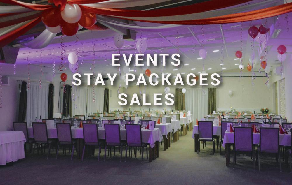 events, stay packages, sales, hotel bystricka, martin